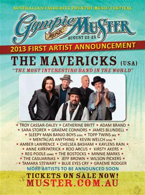 Gympie                                           Music Muster poster, August                                           2013