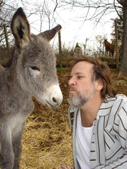 Robert Reynolds and                         donkey, 2008